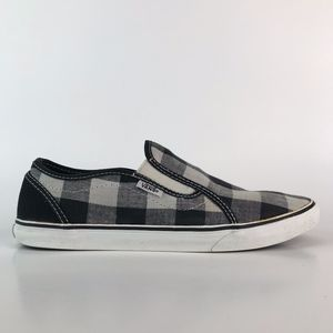 "Vans Womens ""Zoey"" Plaid Slip-on Skate Sneakers"